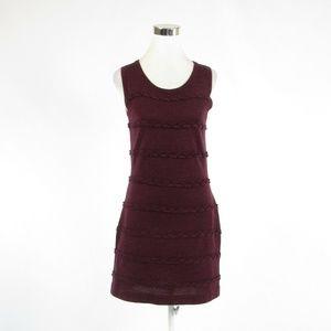 Calvin Klein maroon red dress S